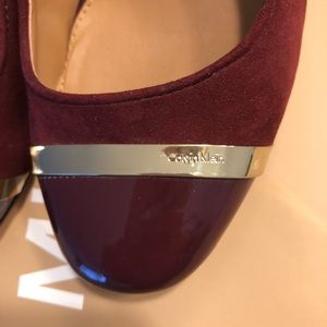 NWOT Calvin Klein shoes burgundy color